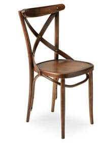 Croce, Chair in solid wood, for contract use