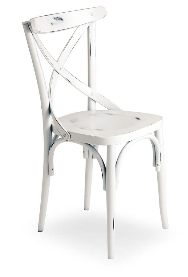 Croce 2, Chair in beech wood, various coatings