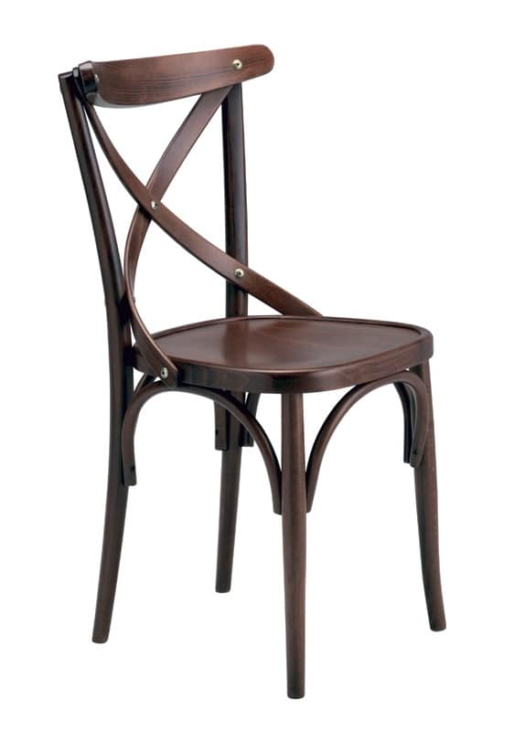 Golia, Chair in bent beechwood for bars and wine bars