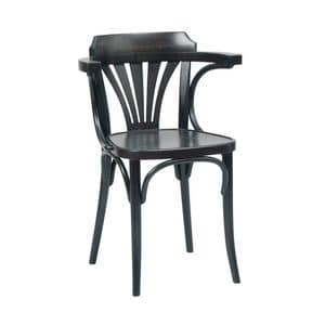 Katrin chair, Chair in curved bentwood, for pubs, bars, beer houses