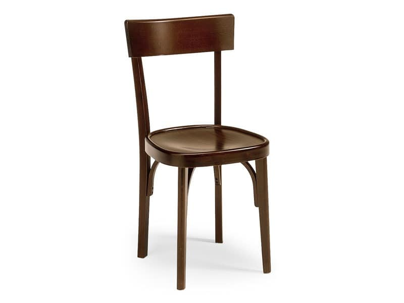 Milano crocera, Old style chair for bars and pubs, made of wood