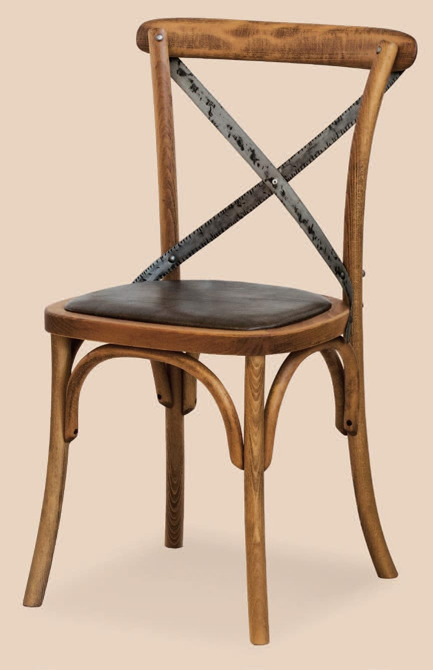 SE 431 / M, Chair with padded seat, in curved wood