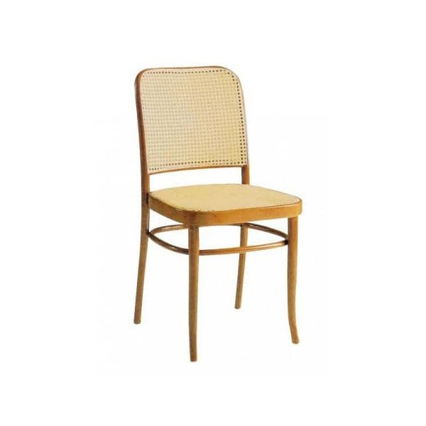 Thonet Canna, Wooden Chair With Back In Vienna Straw