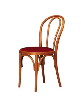 V01, Bentwood chair, upholstered seat, Viennese style