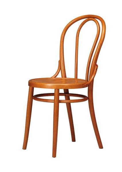 V02, Chair in beech wood curved for saloons and beer houses