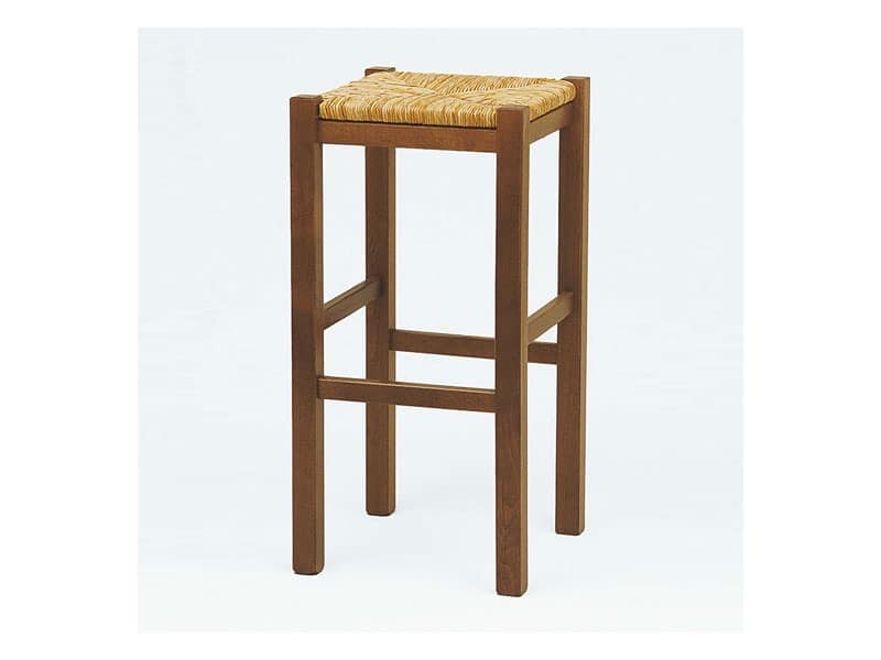 173 H71, High stool with straw seat, for taverns and inns