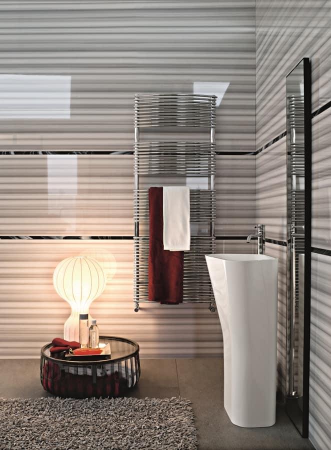 Bath curved, Chromed radiator for bathrooms