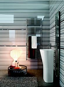 Bath curved, Chromed radiator for bathrooms