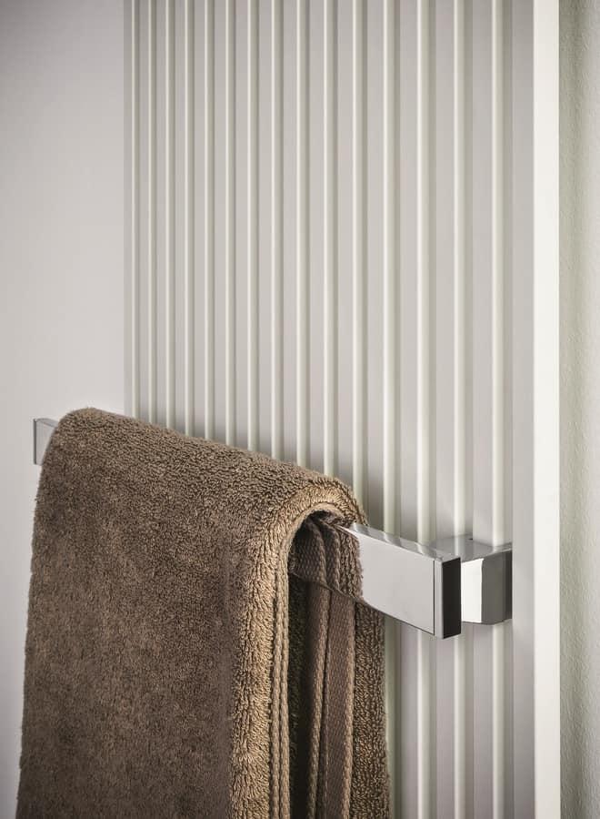 Kubik, Steel radiator, with towel rail