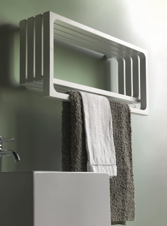 Montecarlo, Bathroom radiator, with towel rail and shelve