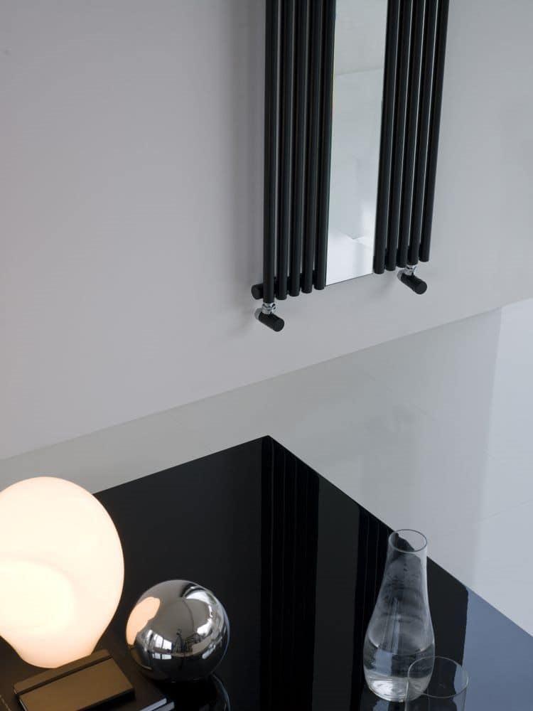 Reflex, Decorative radiator, with mirror, made of steel