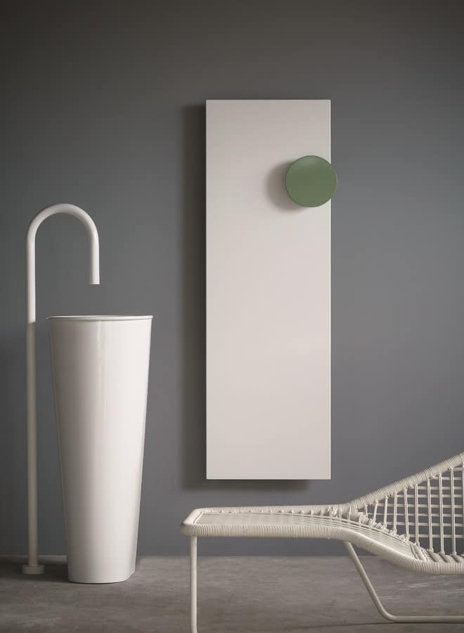 Square, Metal radiator with towel rail