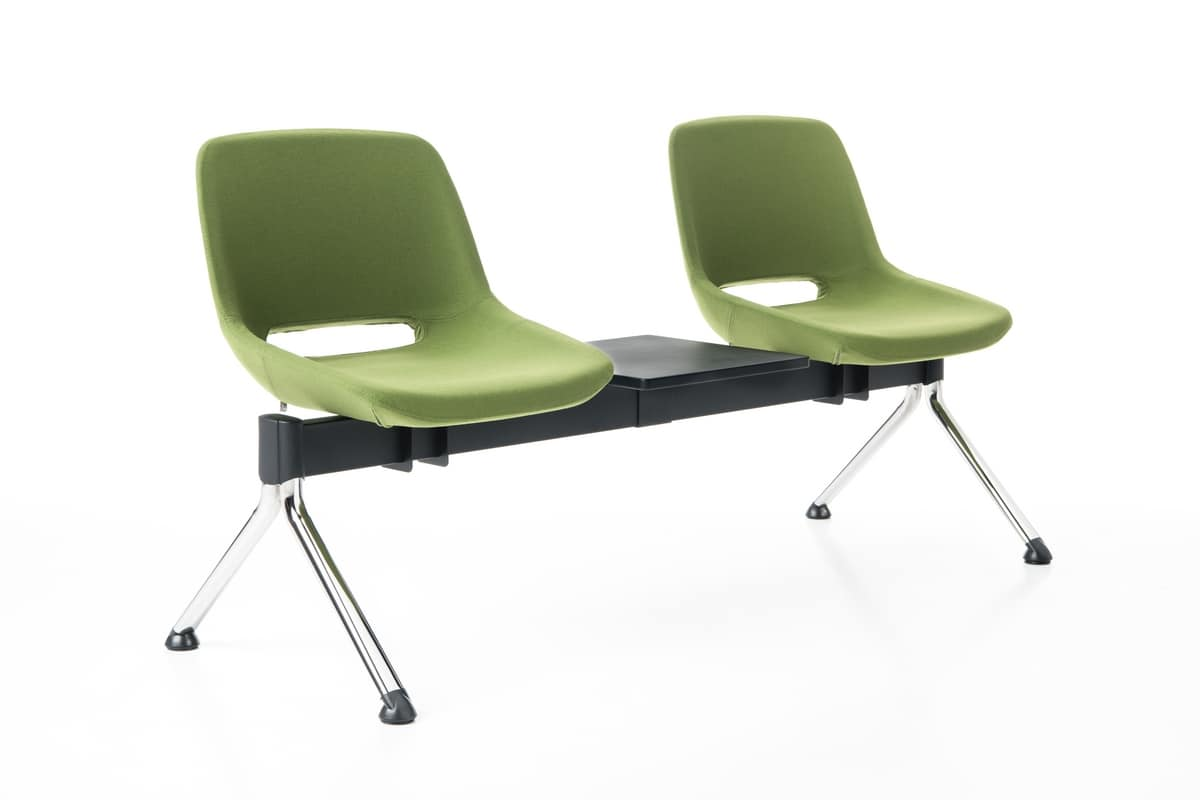 Clea bench, Upholstered bench for waiting areas