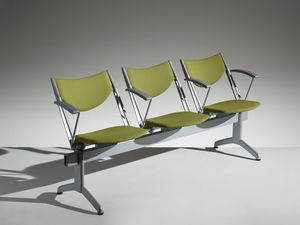 CONPASSO 2, Beam seating with armrests and folding seat