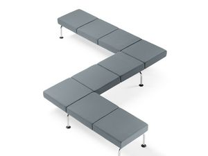 CUBE, Modular bench on beam, for waiting rooms