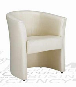 Duny, Waiting armchair with fabric upholstery