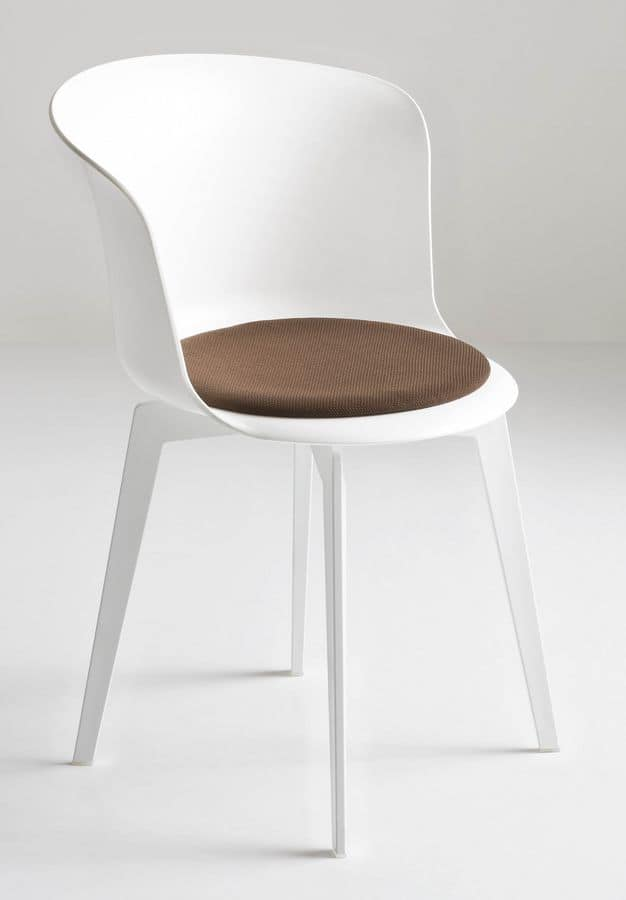 Epica 360, Swivel chair with cushion, in polymer