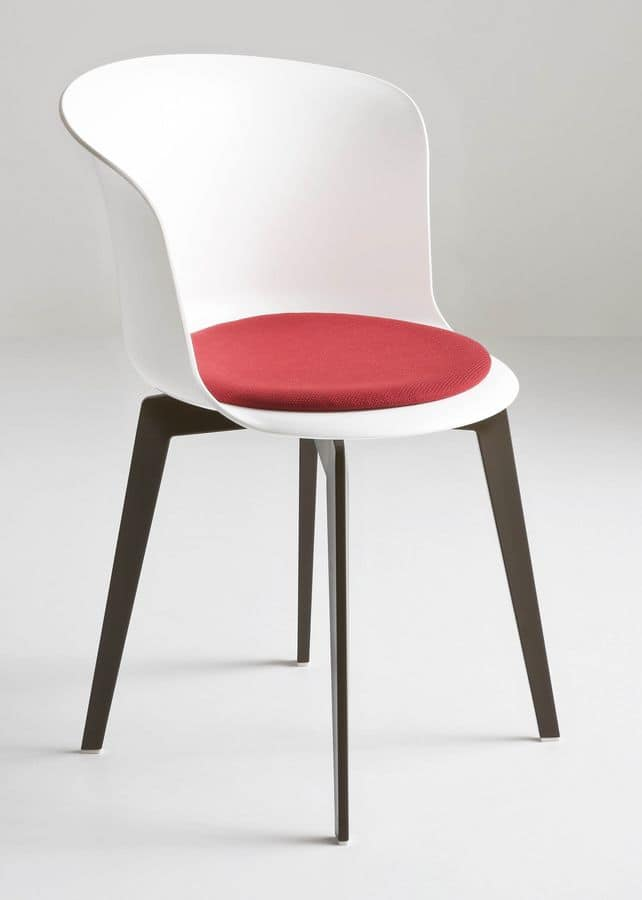 Epica FIX, Fixed chair in polymer, design, ergonomic