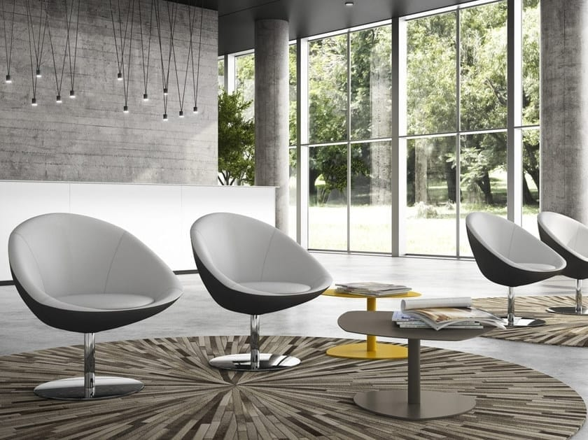 HALL, Swivel armchair for waiting rooms
