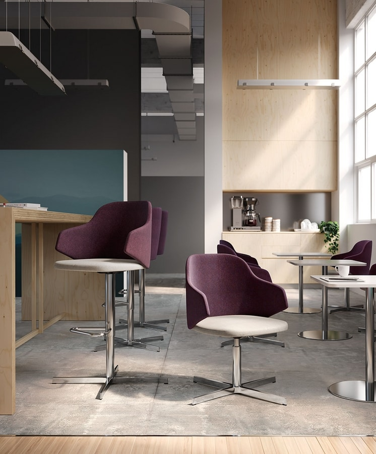 HOST, Office armchair with swivel base