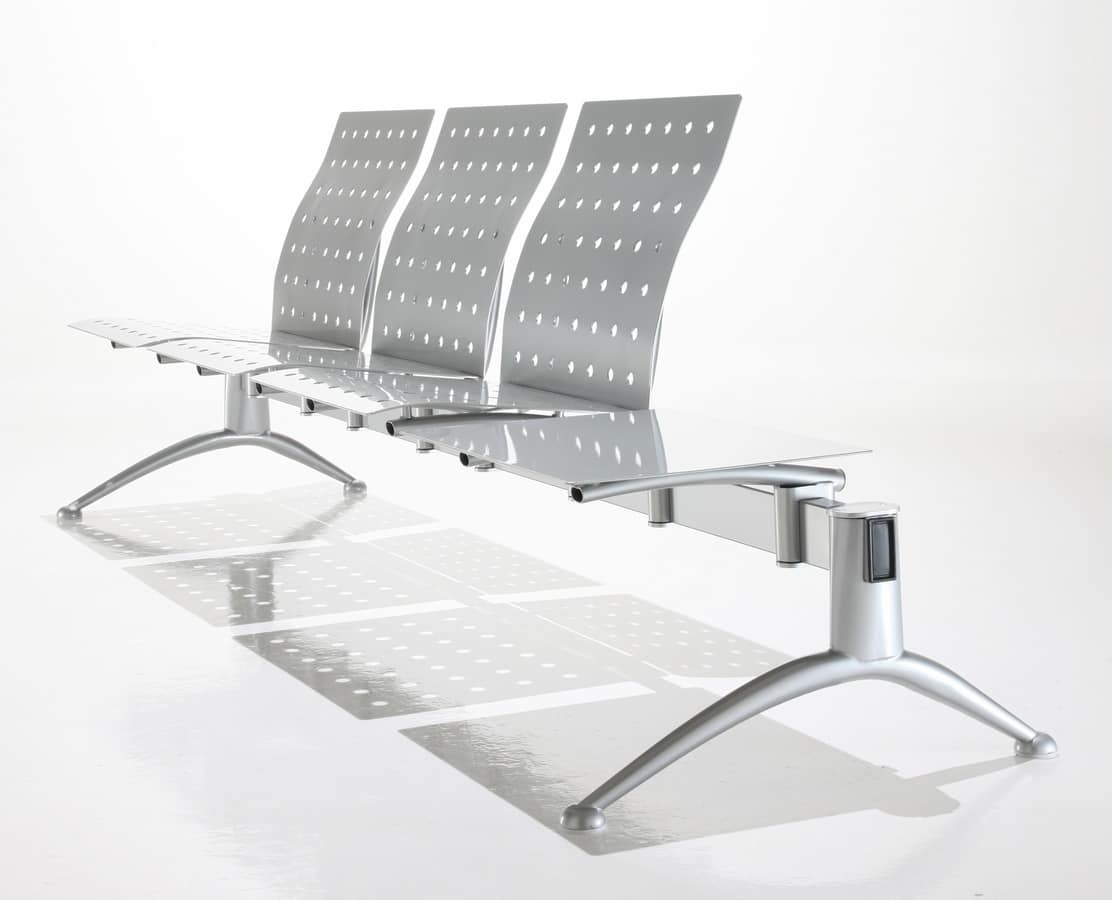 Kargo, Bench for waiting, steel and polyurethane
