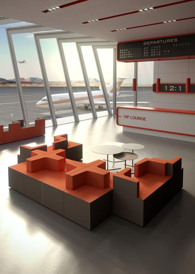 Kenion, Modular armchairs for waiting areas and airports