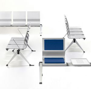 Korus, Chair on steel beam, sheet metal shell