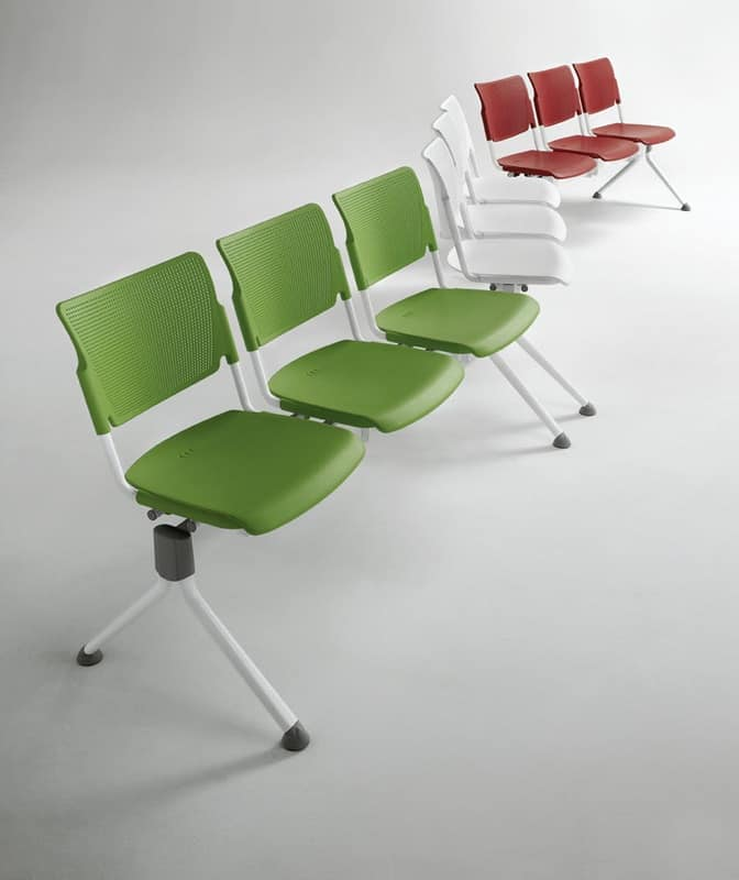 LaMia bench 661013W-GA, Bench for conference rooms, also for outdoor use