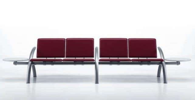 LAMTOP 724 B2T, Beam chairs ideal for airports and stations