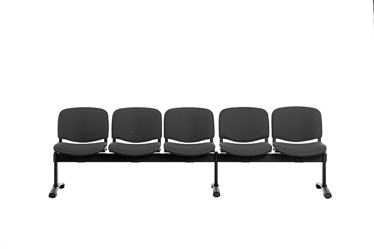 Leo Soft Bench, Fully upholstered tandem seating units
