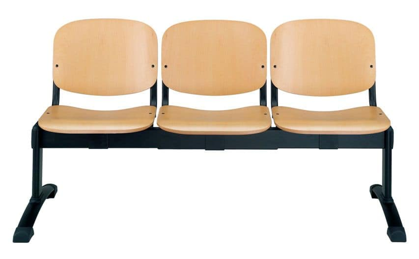 UF 100 bench, Wooden benche for waiting rooms