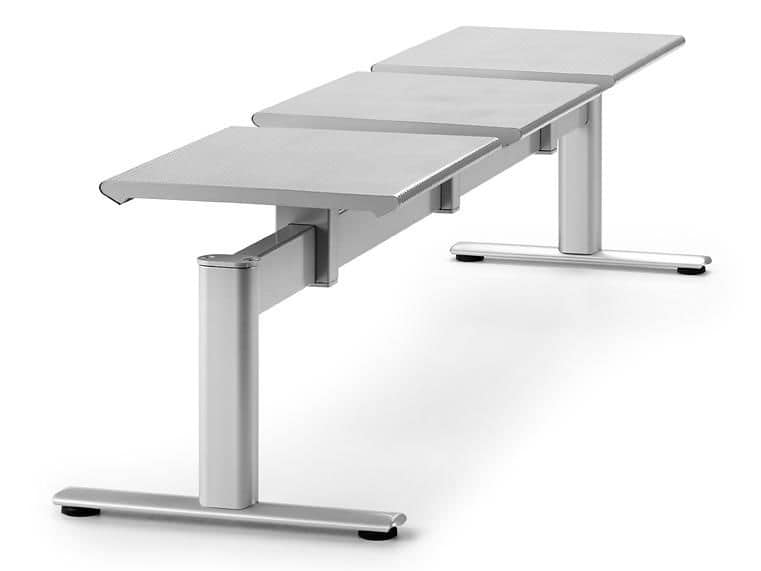 ZERO 225 B3, Metal bench with three seats ideal for stations
