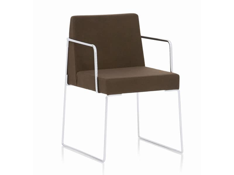 Kalida 602C , Chair with sled base, fire retardant coating, for meeting