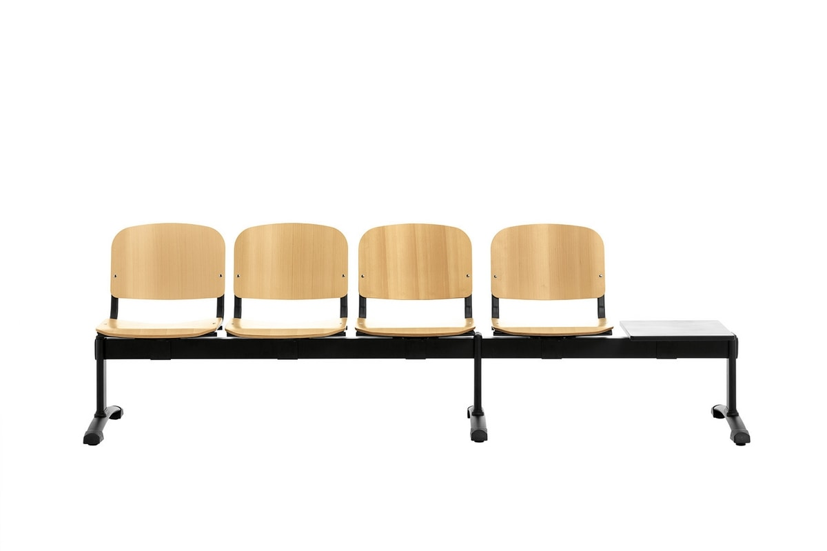 Picture of: Waiting Benches With Wooden Seat Idfdesign