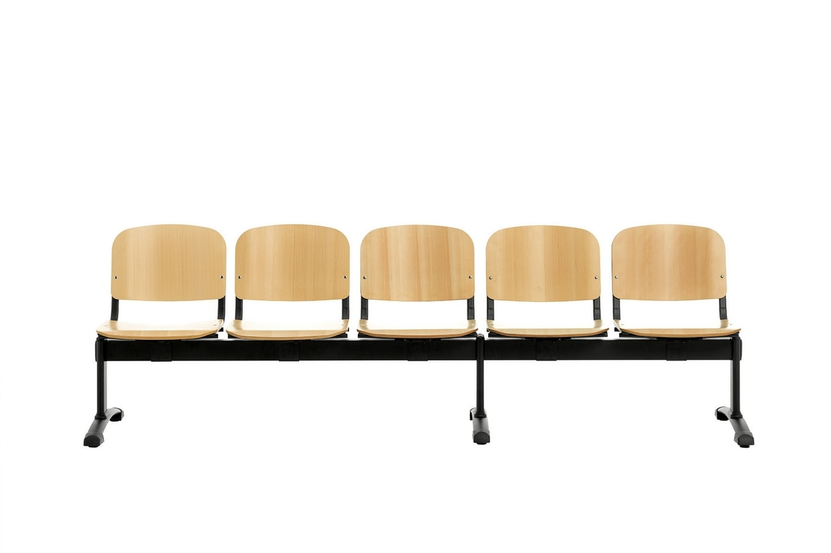 Leo Wood Bench, Waiting benches with wooden seat