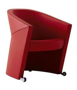 ARROW, Modern padded tub chair, for waiting area