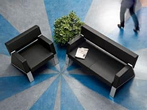Auros 52000, Armchair in leather for waiting areas