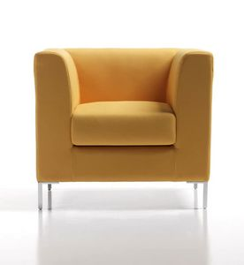 Frame New 1p, Modern padded armchair with multilayer structure