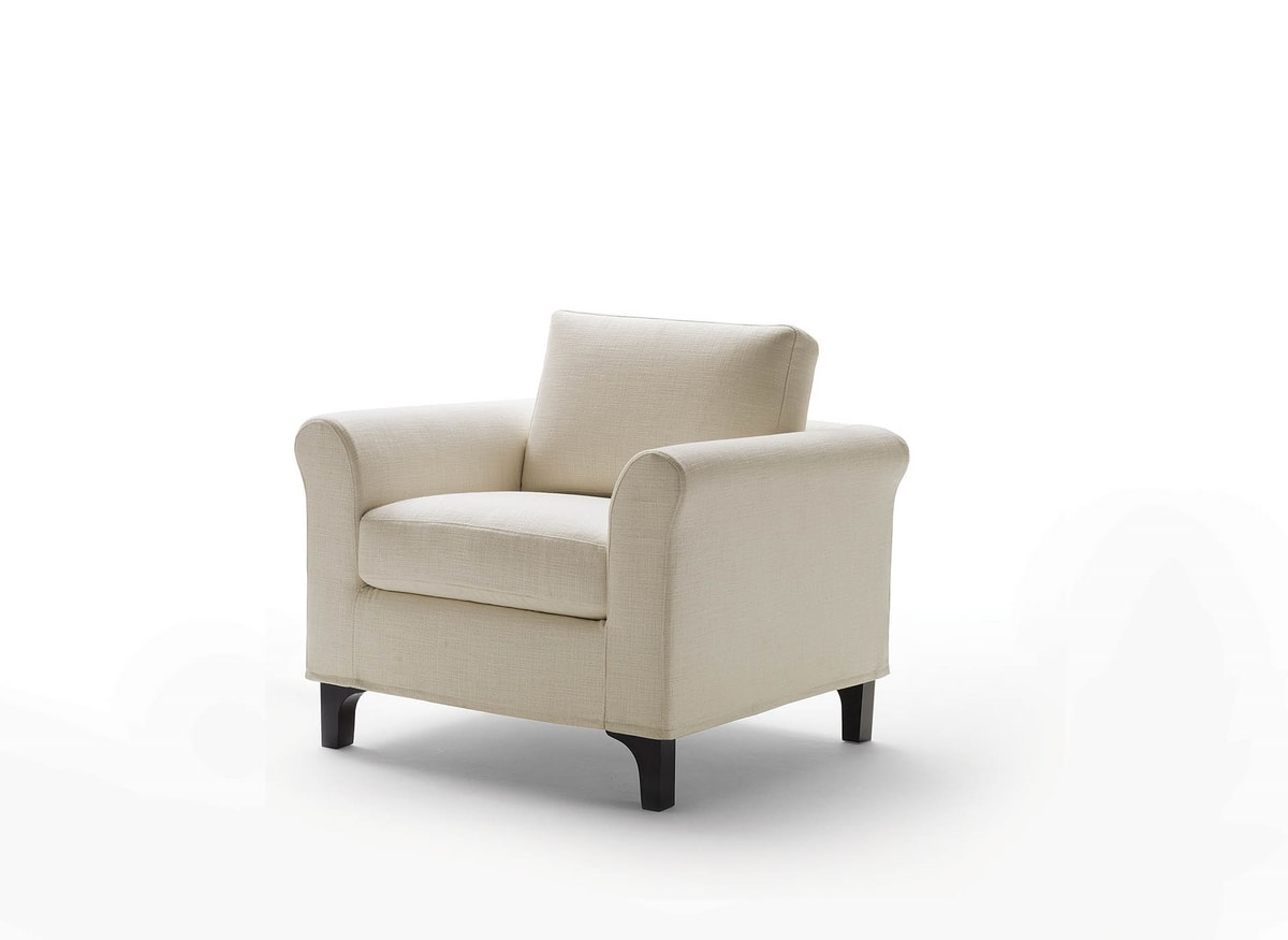 Greta, Classic armchair for living room
