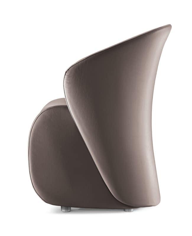 Koccola, Design armchair, padded, for waiting room
