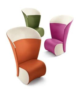 Koccola Plus, High back armchair, various colors, for waiting room