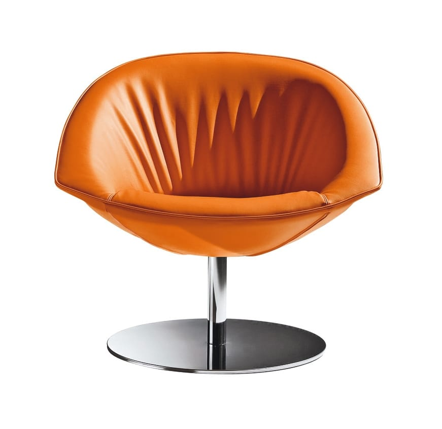 Krokus, Armchair with steel frame, for waiting room