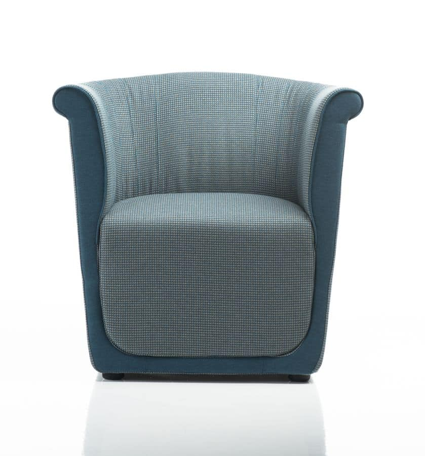 Liz armchair, Comfortable armchair in polyurethane, for lounge area