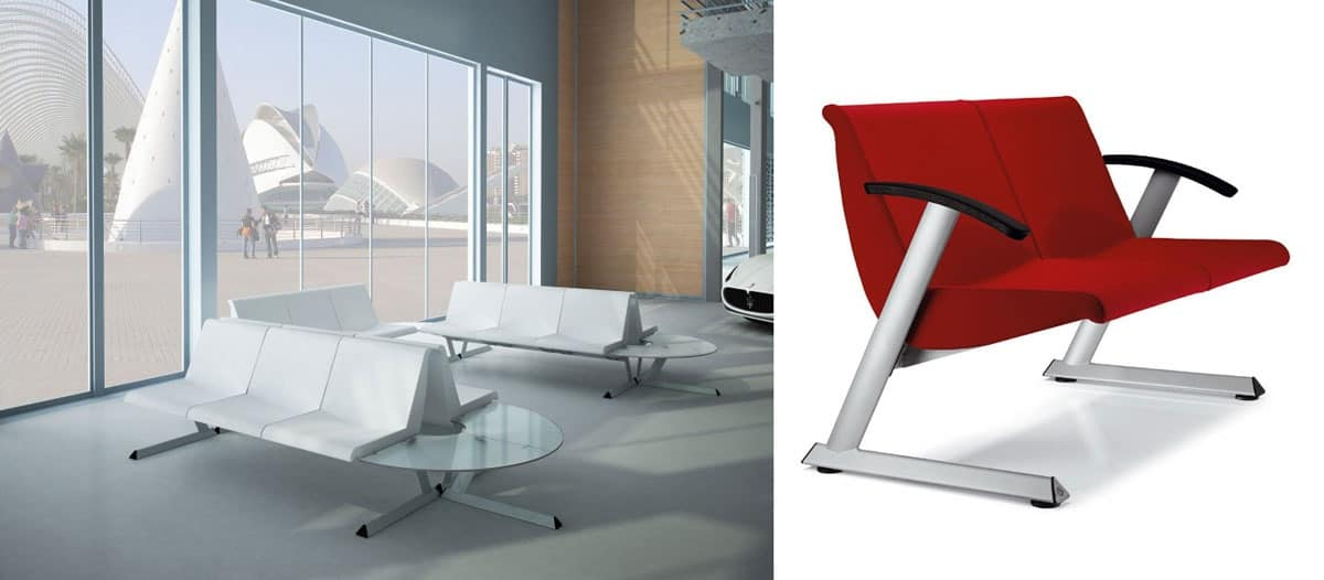TEOREMA, Seating system for waiting areas, modular and elegant