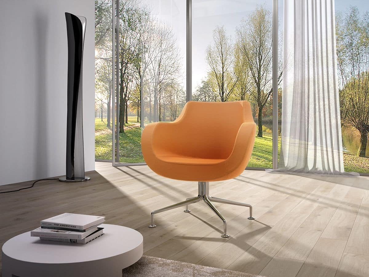 Victoria low, Modern armchair for living room