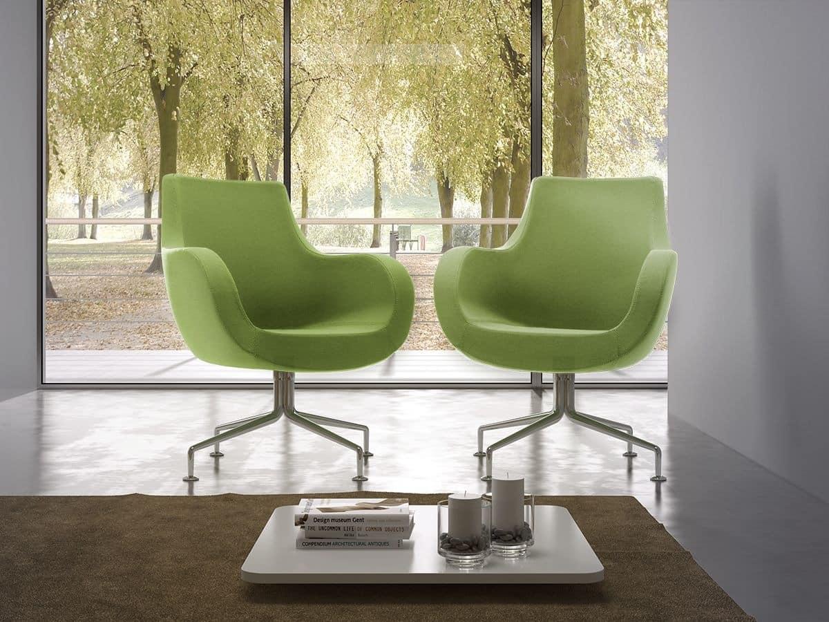 Victoria medium, Chair with deep seat, modern style