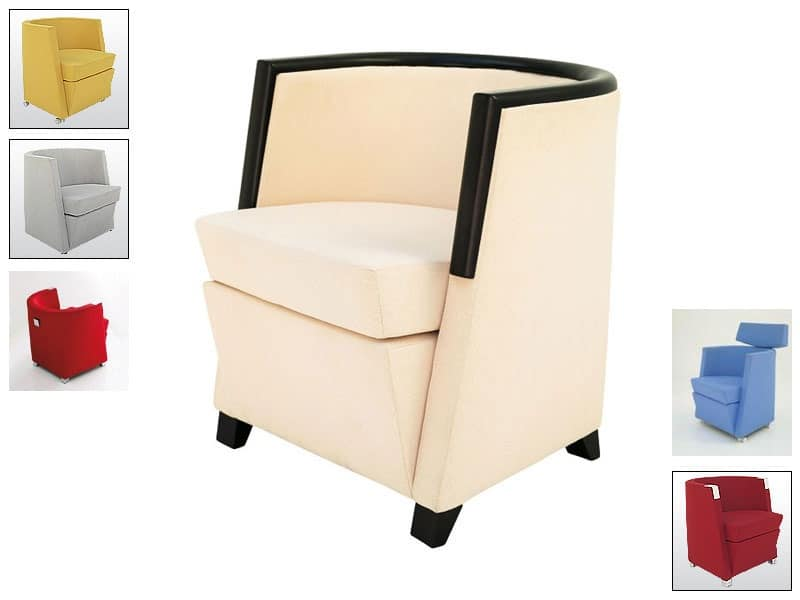 AS, Tub chair, headrest available