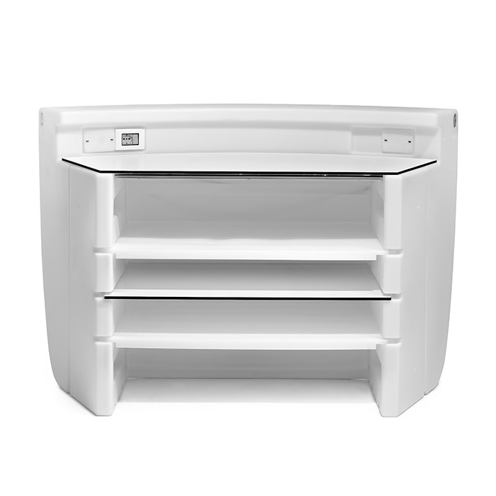 Androyd, Polyethylene counter, curved in shape