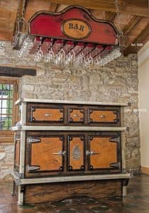 Art. 606, Ceiling cabinet to hang glasses and mugs, for bars and pubs