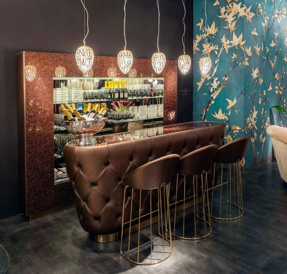 Glitter Bar, Bar furniture with glitter